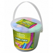Jumbo Chalk in Bucket, 20pcs