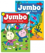 Jumbo Colouring Book 1 & 2