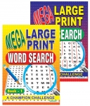 Mega Large Print Word Search Book 1 & 2 - Best Seller