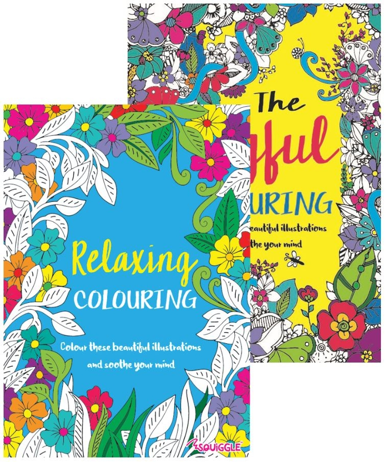 Advanced Colouring Book 1 & 2