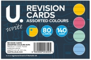 Revision Cards, Assorted Colours, 80pk