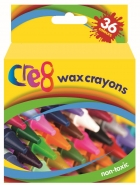 Wax Crayons, 36 Colours