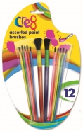 Assorted Paint Brushes, 12pk