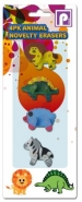 Novelty Animal Eraser 4pk