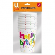 Happy Birthday Cups, 8pk