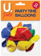 It's Party Time Balloons, 12pk