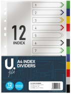 A4 Index Dividers 12pk