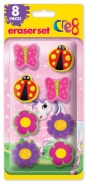 Girls Eraser Set, 8pk