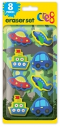 Boys Eraser Set, 8pk