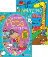 Amazing Animals & Pets Colouring Books