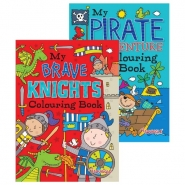 Pirates & Knights Colouring Books