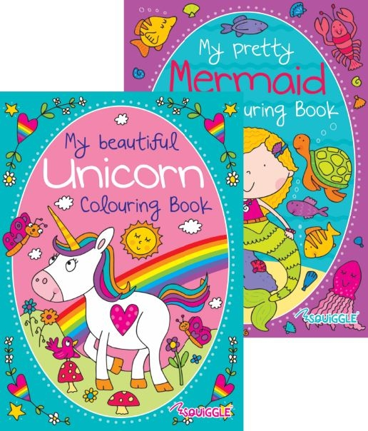 Unicorn & Mermaid Colouring Books