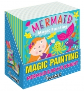 Knight & Mermaid Magic Painting Book, 20x20cm