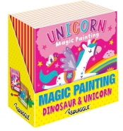 Unicorn & Dinosaur Magic Painting Book, 20x20cm