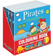 Boys Colouring Books, 4 Asstd 21x21cm