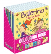 Girls Colouring Books, 4 Asstd 21x21cm