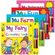 My Colouring Books with Crayons