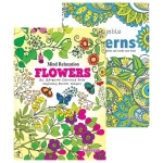 Flowers & Patterns Adult Colouring Book 3 & 4 - Best Seller